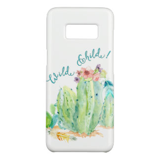 BOHO Bohemian Wild Child Floral Feather Cactus Art Case-Mate Samsung Galaxy S8 Case