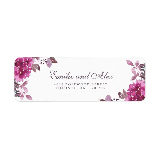 Boho Botanical Return Address Labels