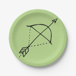 Boho Bow Doodle Paper Plate