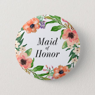 Boho Bridal Party Wedding 2 Inch Round Button