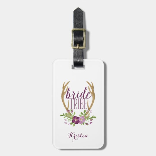 Boho Bride Tribe Luggage Tag