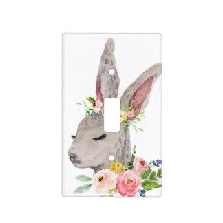 Boho Bunny Rabbit Woodland Light Switch Plate