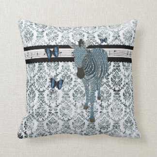 Boho Butterflies & Zebra Grunge  Damask  Mojo Pill Pillow