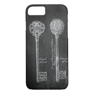 boho Chalkboard Victorian steampunk skeleton keys iPhone 8/7 Case