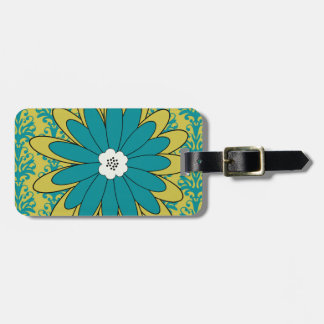 Boho Chic Blue and Green Luggage Tag