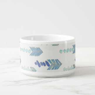 boho chic blue arrows native pattern bowl
