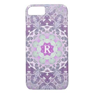 Boho chic Bohemian lilac purple mandala iPhone 8/7 Case