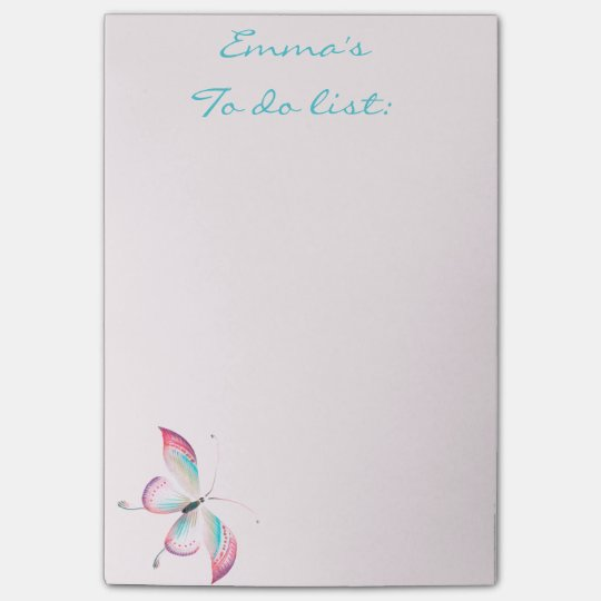 Boho Chic Chinoiserie Butterfly Post-it® Notes