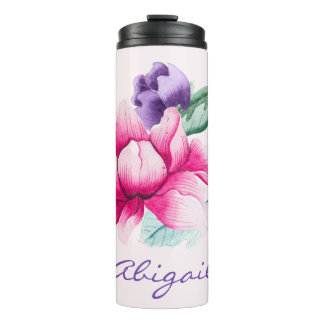 Boho Chic Chinoiserie Floral Thermal Tumbler