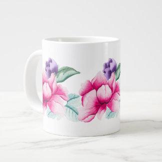 Boho Chic Chinoiserie Flowers Jumbo Mug