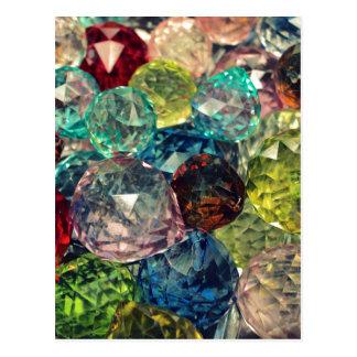 Boho Chic: Colorful Glass Beads Postcard