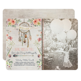 Boho Chic Dreamcatcher Birthday Party Invitation