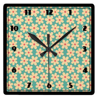 Boho Chic Hippie Happy Daisy Clock