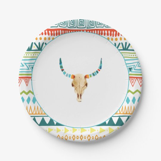 Boho Chic Paper Plate