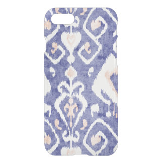 Boho chic rustic blue ikat tribal pattern iPhone 7 case