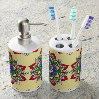 Boho Chic Style Mandala Colorful Bathroom Set