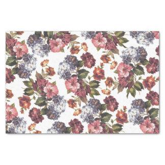 Boho chic vintage pink blue orange roses flowers tissue paper