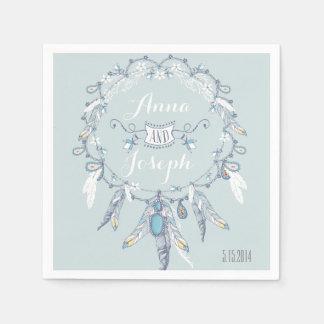 Boho chic Wedding Napkins Paper Napkin