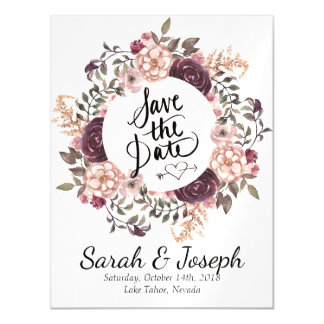 Boho Chic Wedding Save The Date Magnet