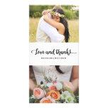 Boho Chic | Wedding Thank You Photo Card