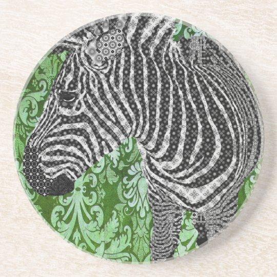 Boho Chic Zebra II Coaster