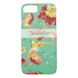 Boho Cottage Modern Bohemian Pattern Flower Birds iPhone 8/7 Case
