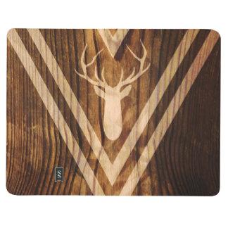 Boho deer on rustic wood journals