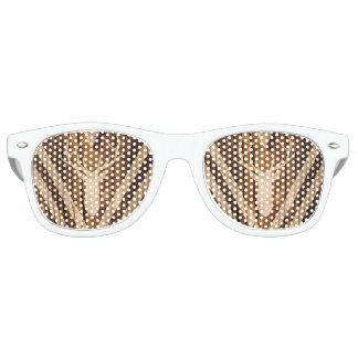 Boho deer on rustic wood retro sunglasses
