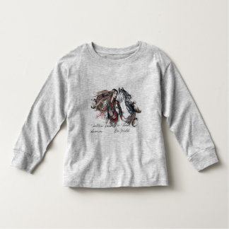Boho design with girl and horse toddler t-shirt
