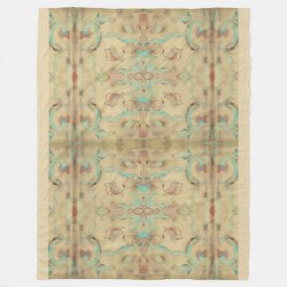Boho Distressed Vintage Deco Mandala Pastels Fleece Blanket