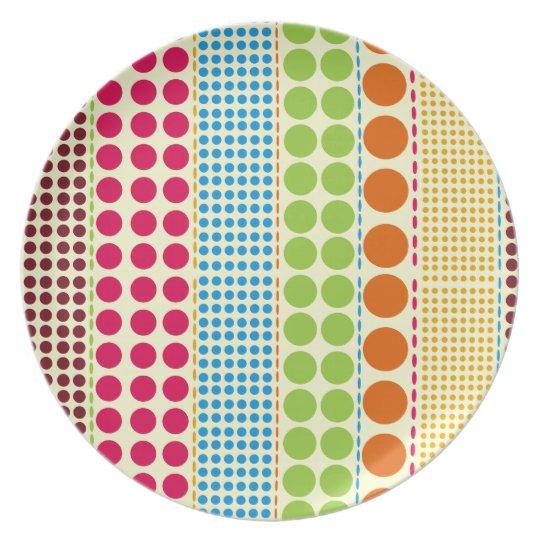 Boho Dots Melamine Plate