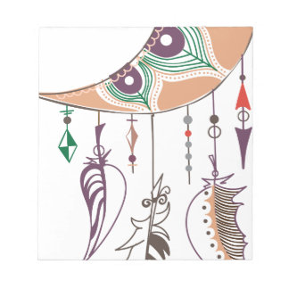 Boho dreamcatcher notepad