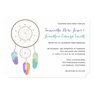 Boho Dreamcatcher Wedding Invitation