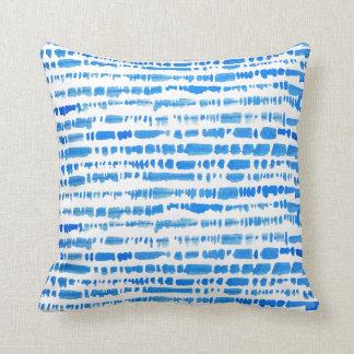 Boho Eclectic Blue Tie Dye Pillow