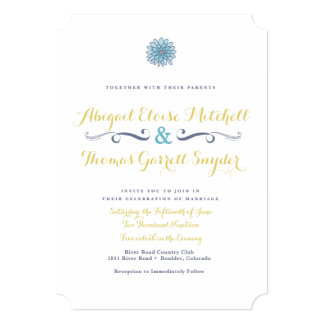 Boho Elegant Wedding Invitation