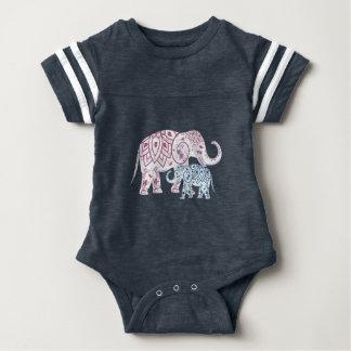 Boho Elephants , MOM and Me matching Baby Bodysuit