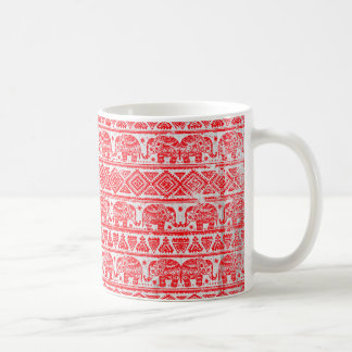 Boho ethnic elephant pattern coffee mug