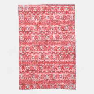 Boho ethnic elephant pattern kitchen towel