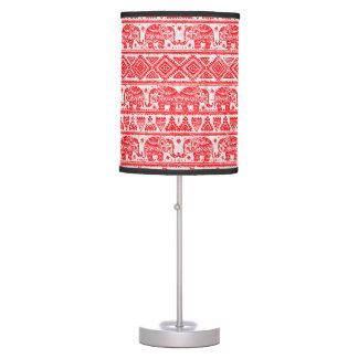 Boho ethnic elephant pattern table lamp
