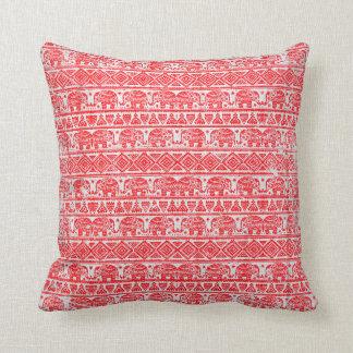 Boho ethnic elephant pattern throw pillow