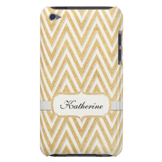 BOHO Faux Burlap n Lace Chevron modern mod style iPod Case-Mate Cases