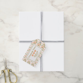 Boho Favor Tags - Peach Gold
