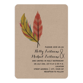 Shop Zazzle's selection of boho wedding invitations for your special day!