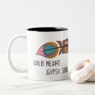 Boho Feather Wild Heart Gypsy Soul Mug