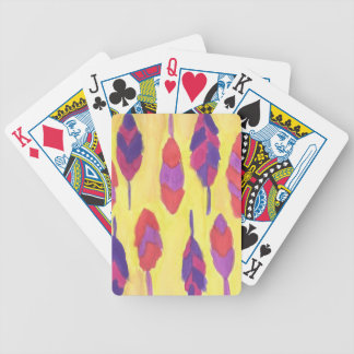 Boho Feathers Bicycle Playing Cards