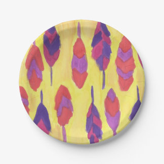 Boho Feathers Paper Plate