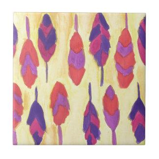 Boho Feathers Tile