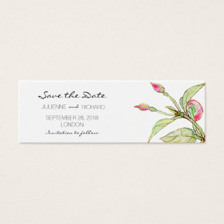 Boho Floral Affordable Save the Date Mini Cards