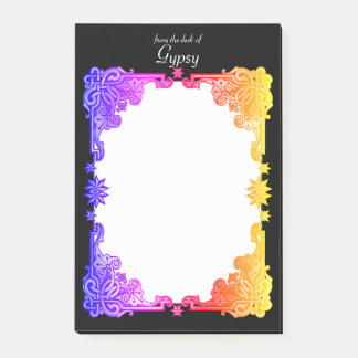 Boho Floral Bohemian Bold Colorful Drawn Tapestry Post-it Notes