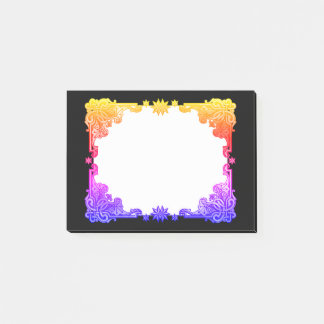 Boho Floral Bohemian Bold Colourful Drawn Tapestry Post-it Notes